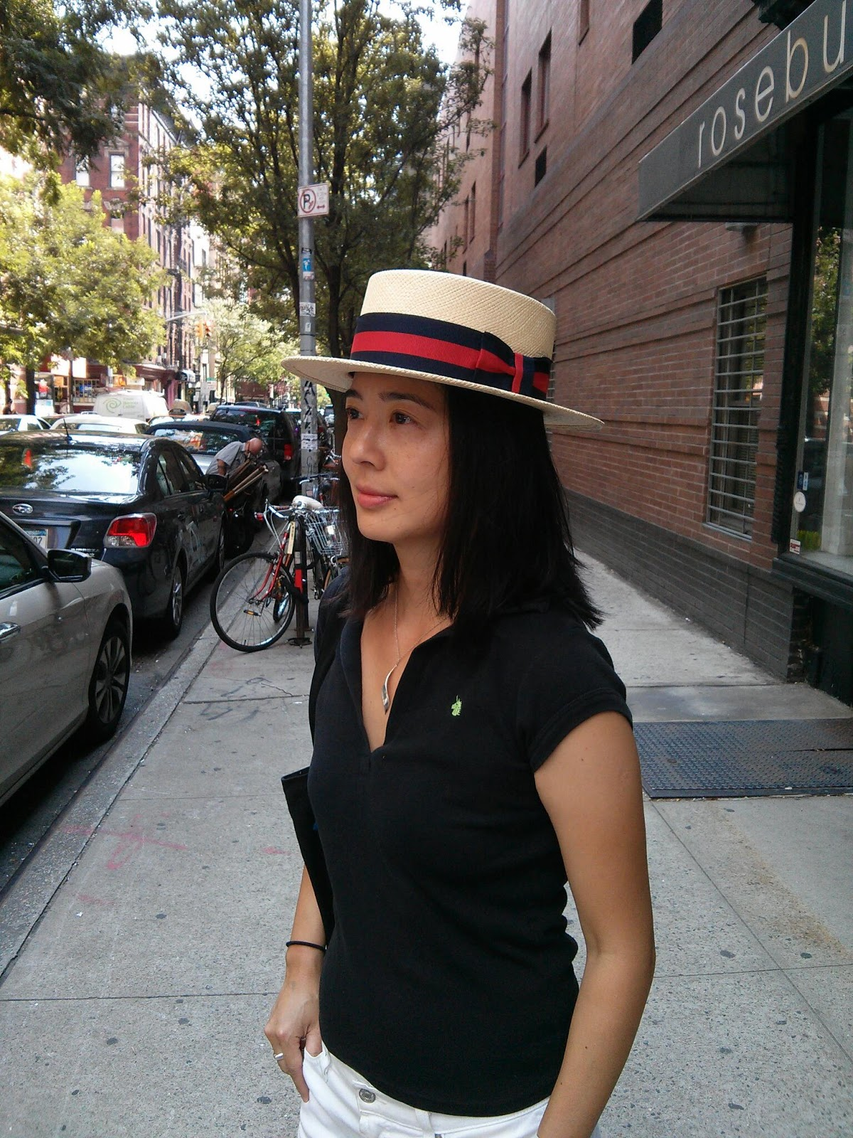 skimmer boater hat from The Hat House NY