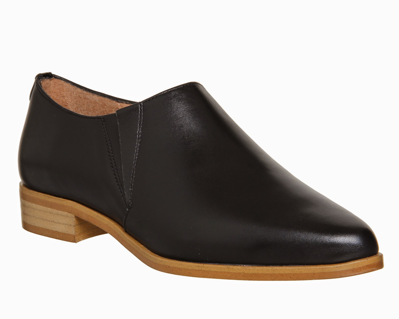 office black low ankle boot,