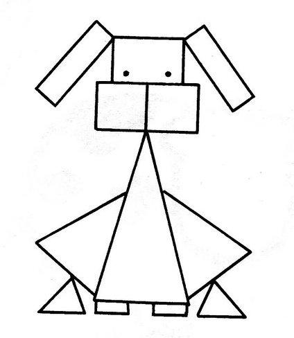 Dibujos con figuras geometricas  Vida Blogger