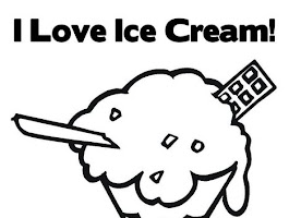 I Love Ice Cream Coloring Page