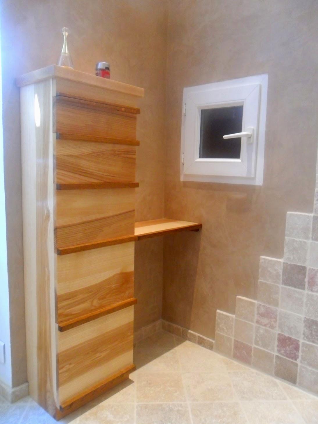 Meuble rangement salle de bain bois meuble d coration maison for Meuble de salle de bain petit