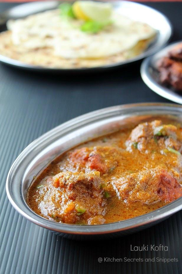 lauki kofta curry / bottle gourd kofta curry