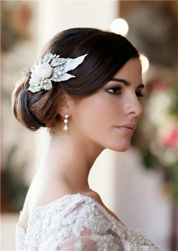 simple bridal hairstyle models wedding concept ideas