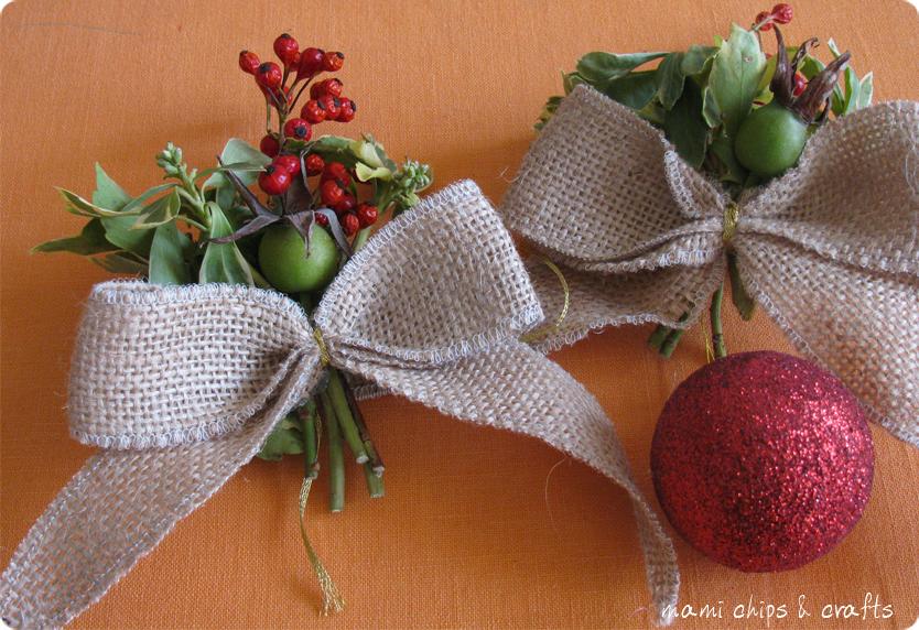 Mami chips crafts decorazioni natalizie con elementi - Decorazioni ghirlande natalizie ...