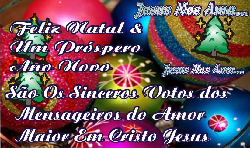 Feliz Natal Próspero Ano Novo e Que Tudo Se Realize