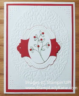 Christmas Card made with Stampin'UP! Framelits and Easy Events Stamp Set.
