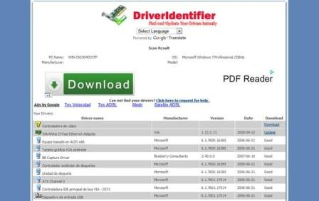 Identifica y descarga los drivers de tu pc, DriverIdentifier