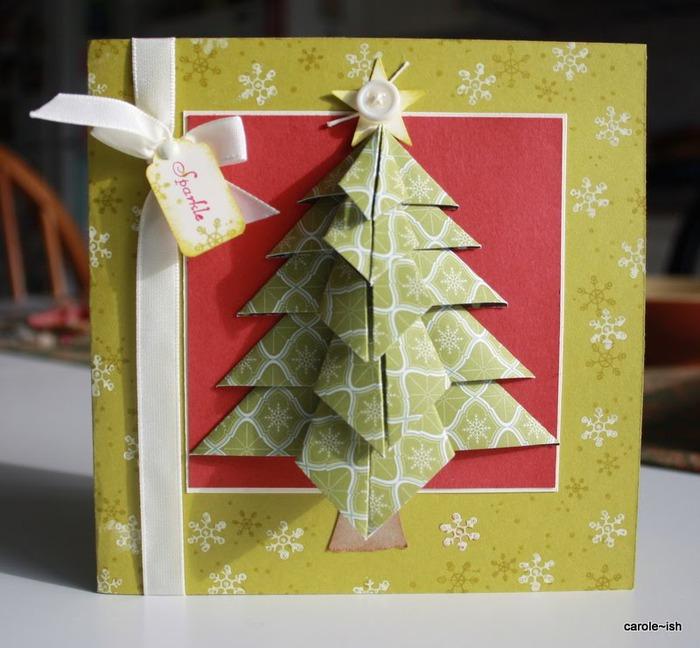 Новогодние объемные елки своими руками