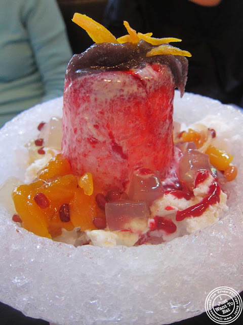 image of tropical snow at Bann Korean restaurant in NYC, New York