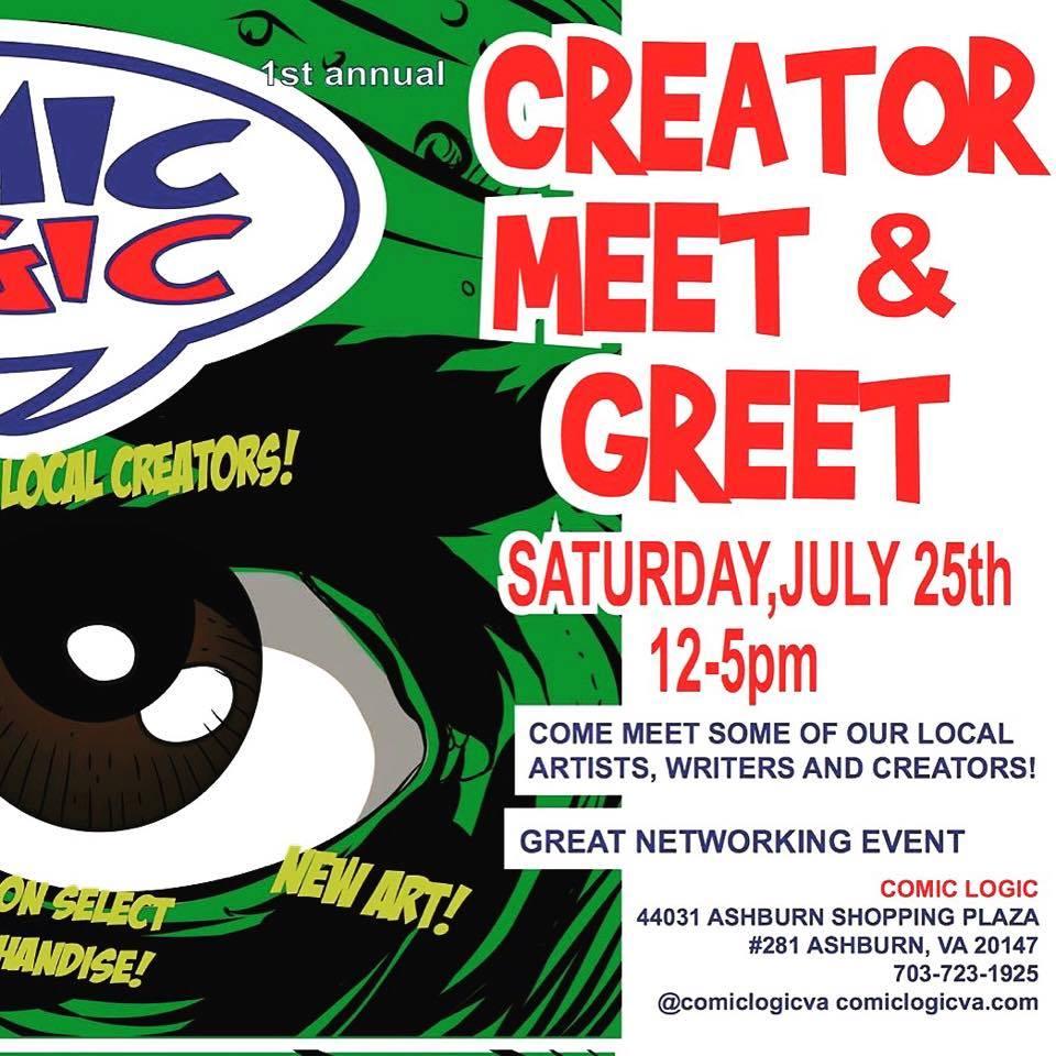 Comicsdc July 25 Creator Meet Greet At Comic Logic