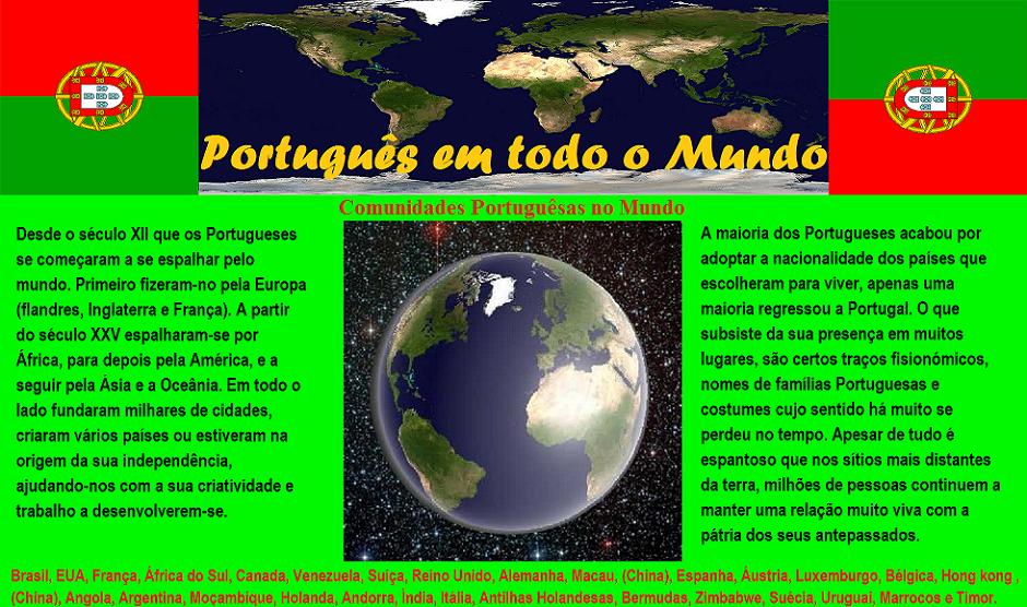 Português em todo o Mundo