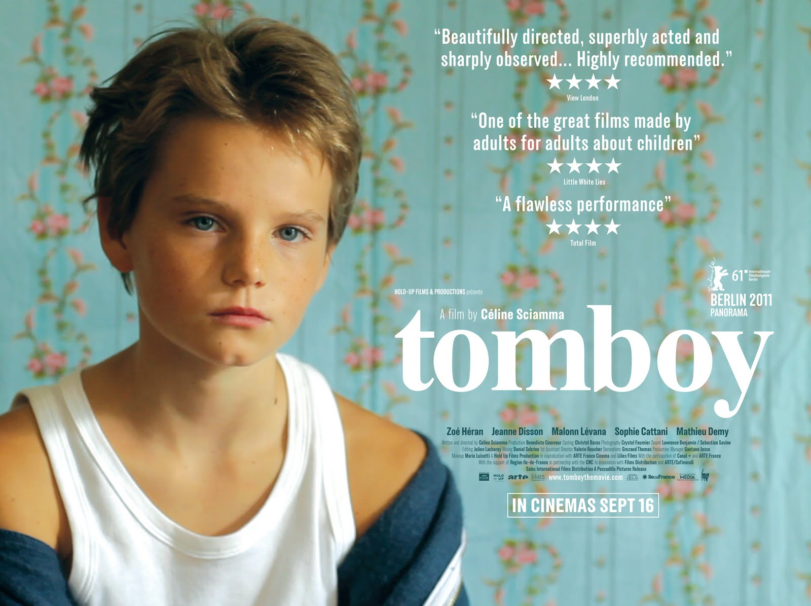 Poster from Tomboy, screening Friday at 7pm at the Kimball Theatre.