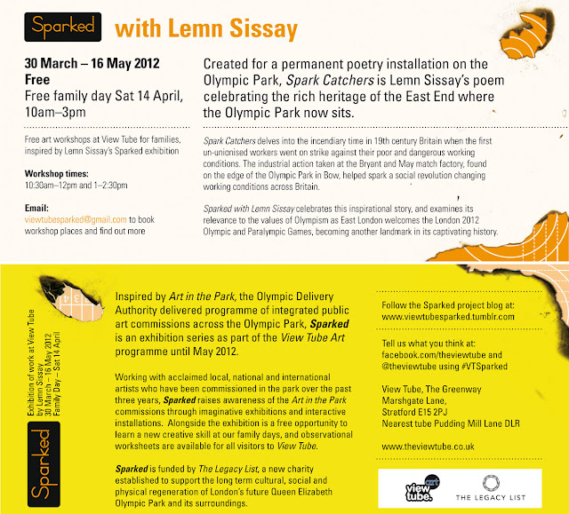 New Lemn Sissay exhibition, first Olympic poet commissioned for London 2012