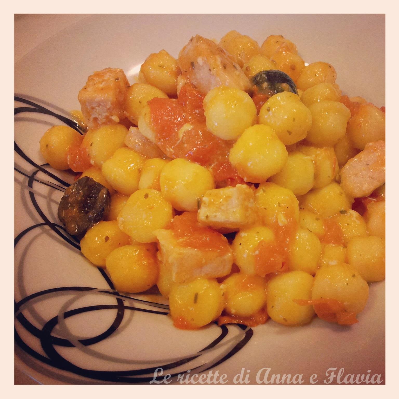 chicche di patate con pesce spada e pomodorini