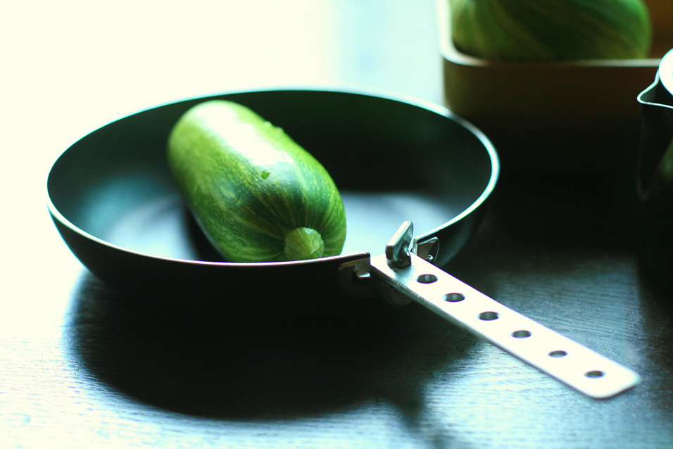 A Frying Pan With Polding Handle