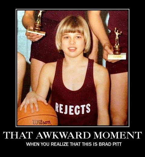 Awkward Moment Brad Pitt Meme