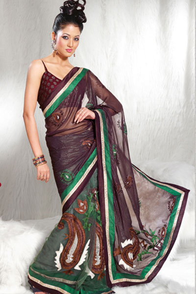 2013 home party amp casual wear saree fashion point