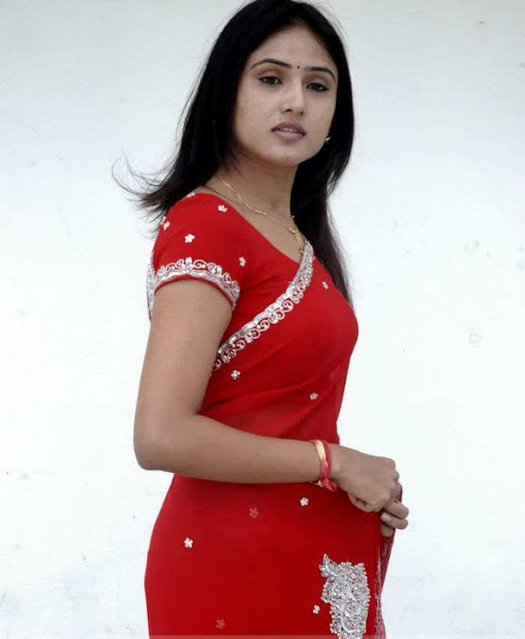 sony charishta red saree hot images