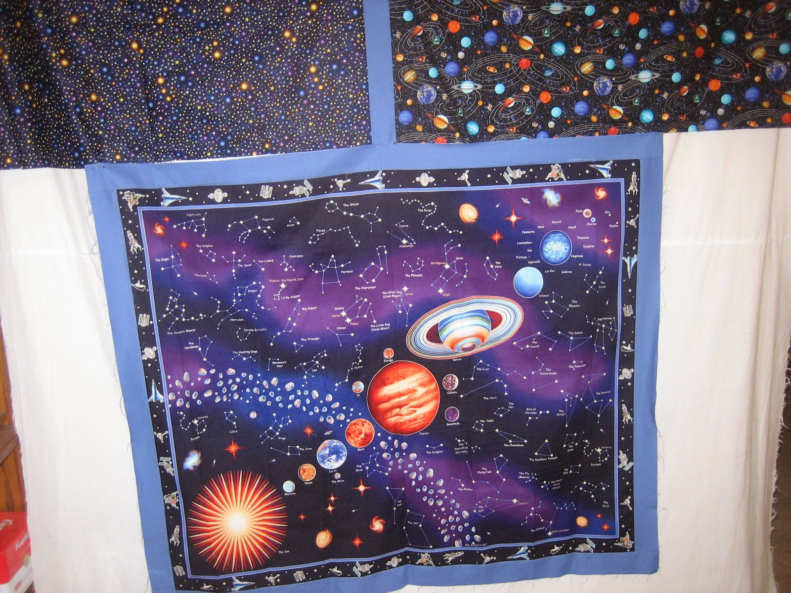 Mama said sew wip wednesday for Solar system fabric panel