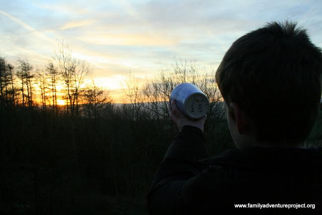 Catch sunrise in a cup