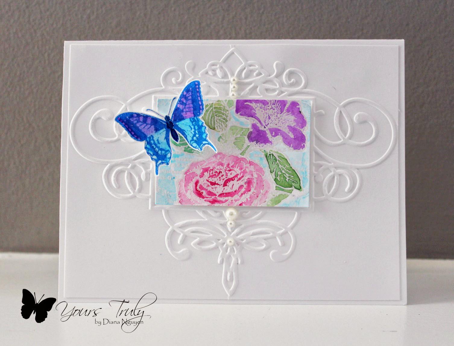 Diana Nguyen, JustRite, CAS, butterfly, card