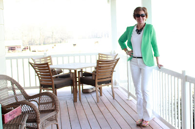 Seafoam Green Linen Jacket