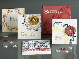Kartenbox, Minicards, Minikarten, Envelope Punchboard, Medallion