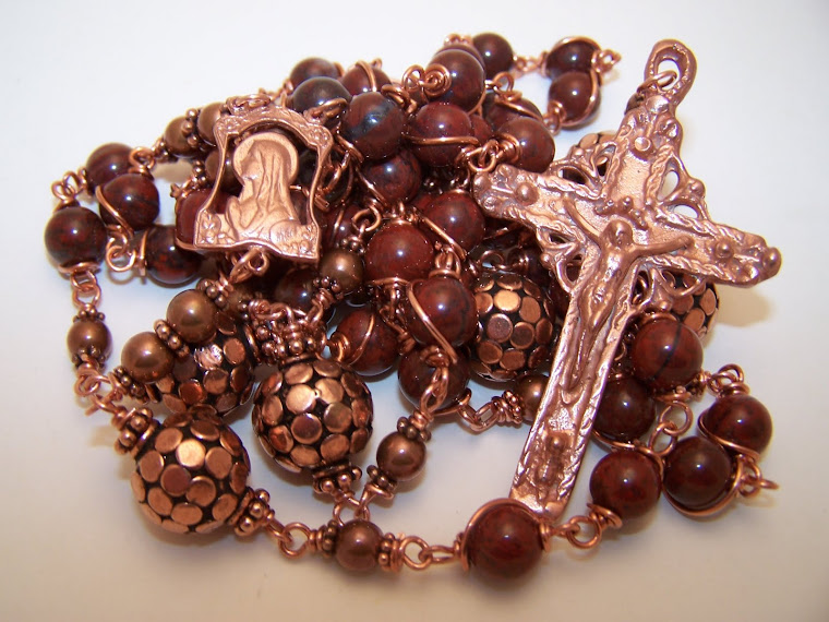Copper Collection! Rosary Of Heavens Queen