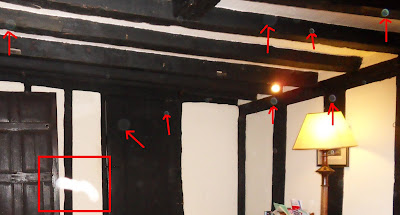 Photo showing orbs and a white streak