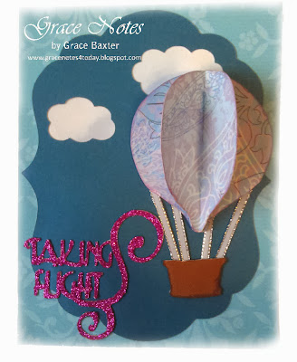 Taking Flight Birthday card, hot air balloon designed by Grace Baxter