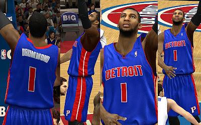 NBA 2K13 Detroit Pistons Jersey Pack Mod