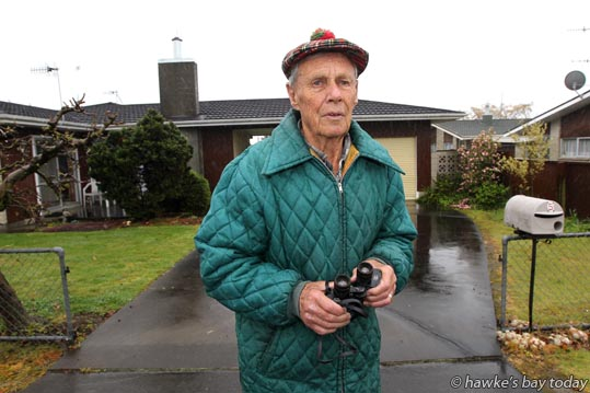 Bill Lepper, 84, Brookvale Rd, Havelock North, had his gates stolen, which will cost $600 to replace. photograph