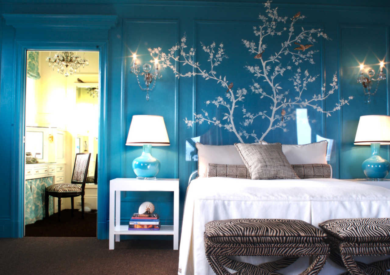 blue and white teen rooms
