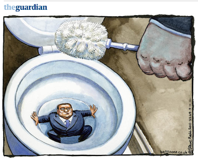Vignetta apparsa sul quotidiano inglese 'The Guardian'