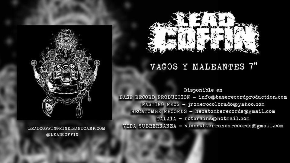 """LEAD COFFIN -""""Vagos y maleantes"""" 7""""Ep ( grind / punk )"""