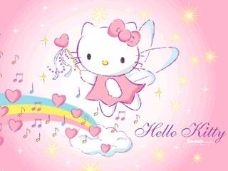 Hello Kitty Malaikat Bernyanyi