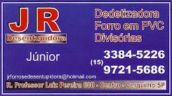 JR DESENTUPIDORA Dedetizadora Forro de PVC Divisórias