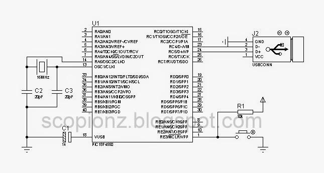USB HID Bootloader circuit