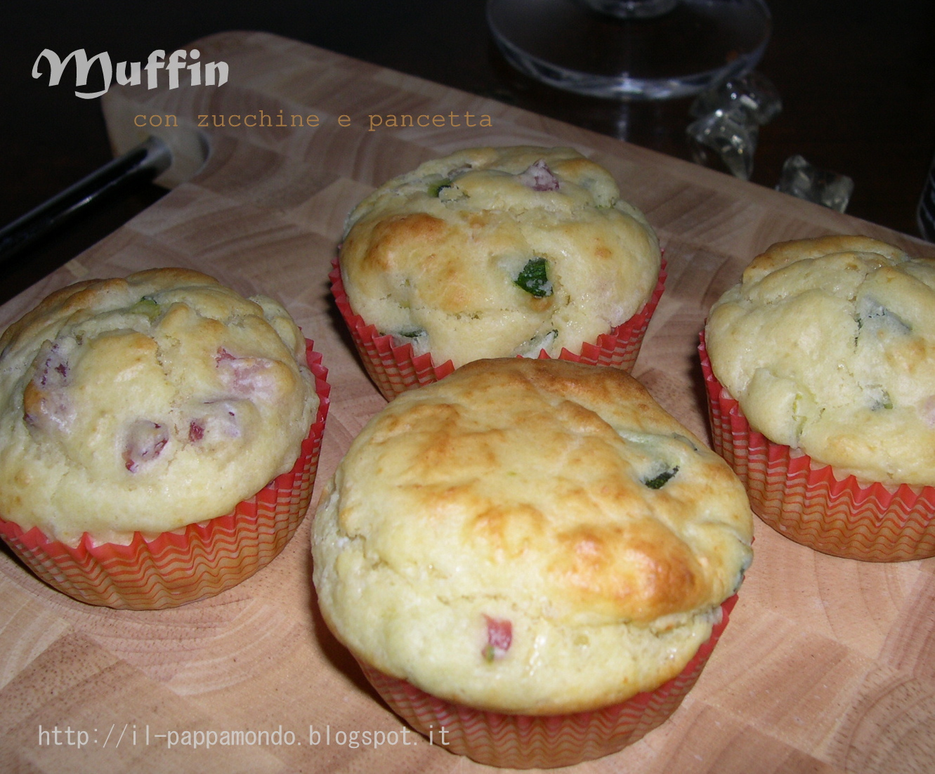muffins zucchine e pancetta