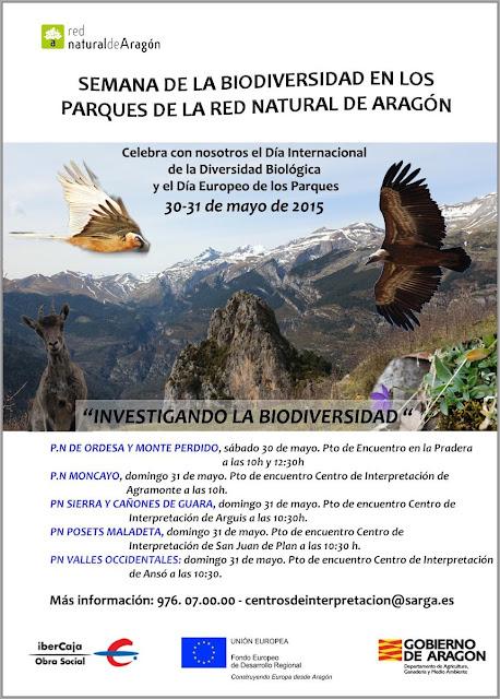 Aragón celebra el Día de los Parques y la Biodiversidad 2015