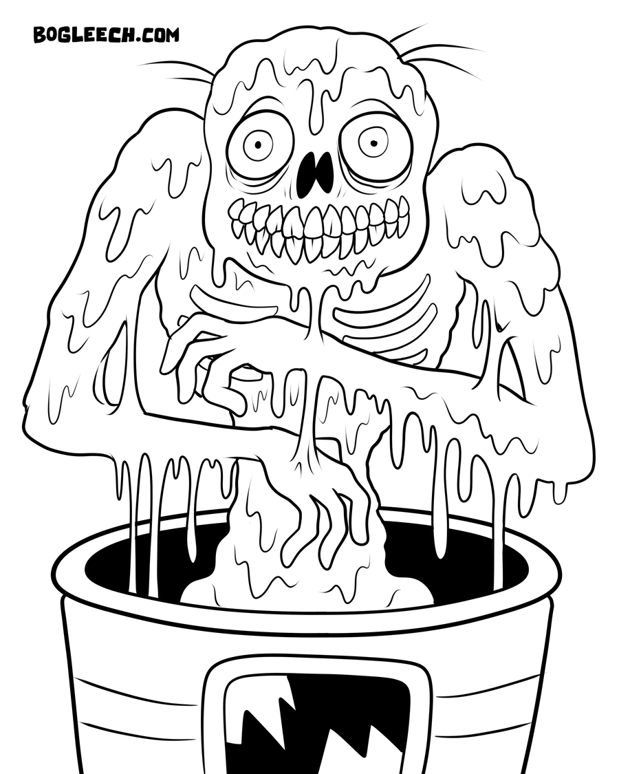 Halloween Zombie Coloring Pages on scary all in the killers