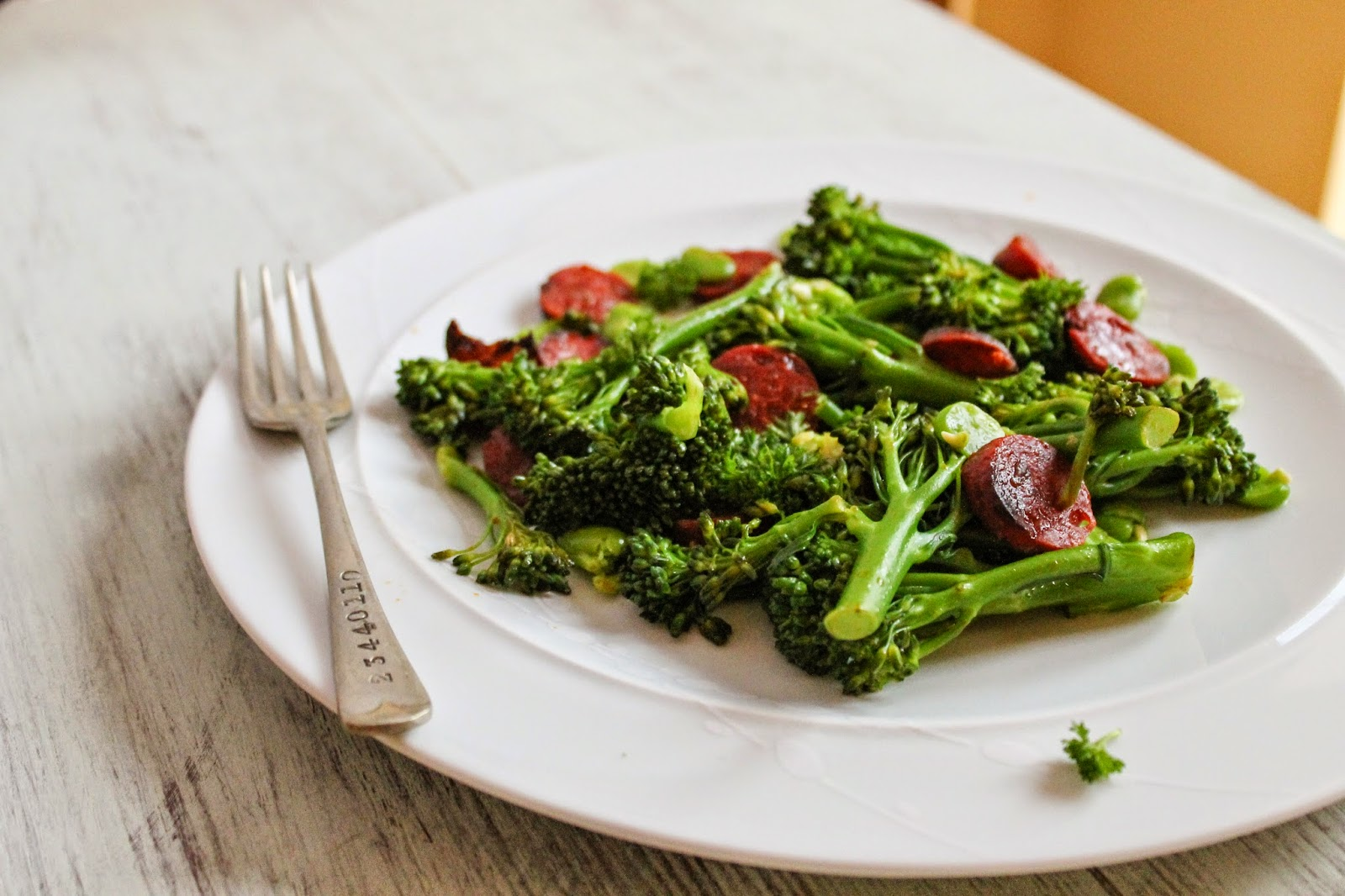 Broccoli and chorizo