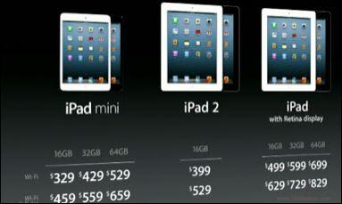 prices of ipad mini