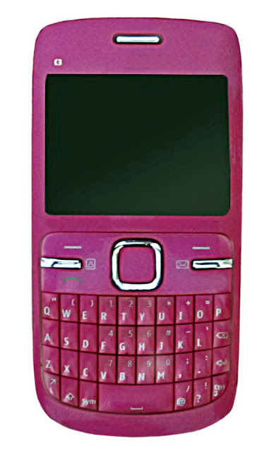 pink colored cell phone