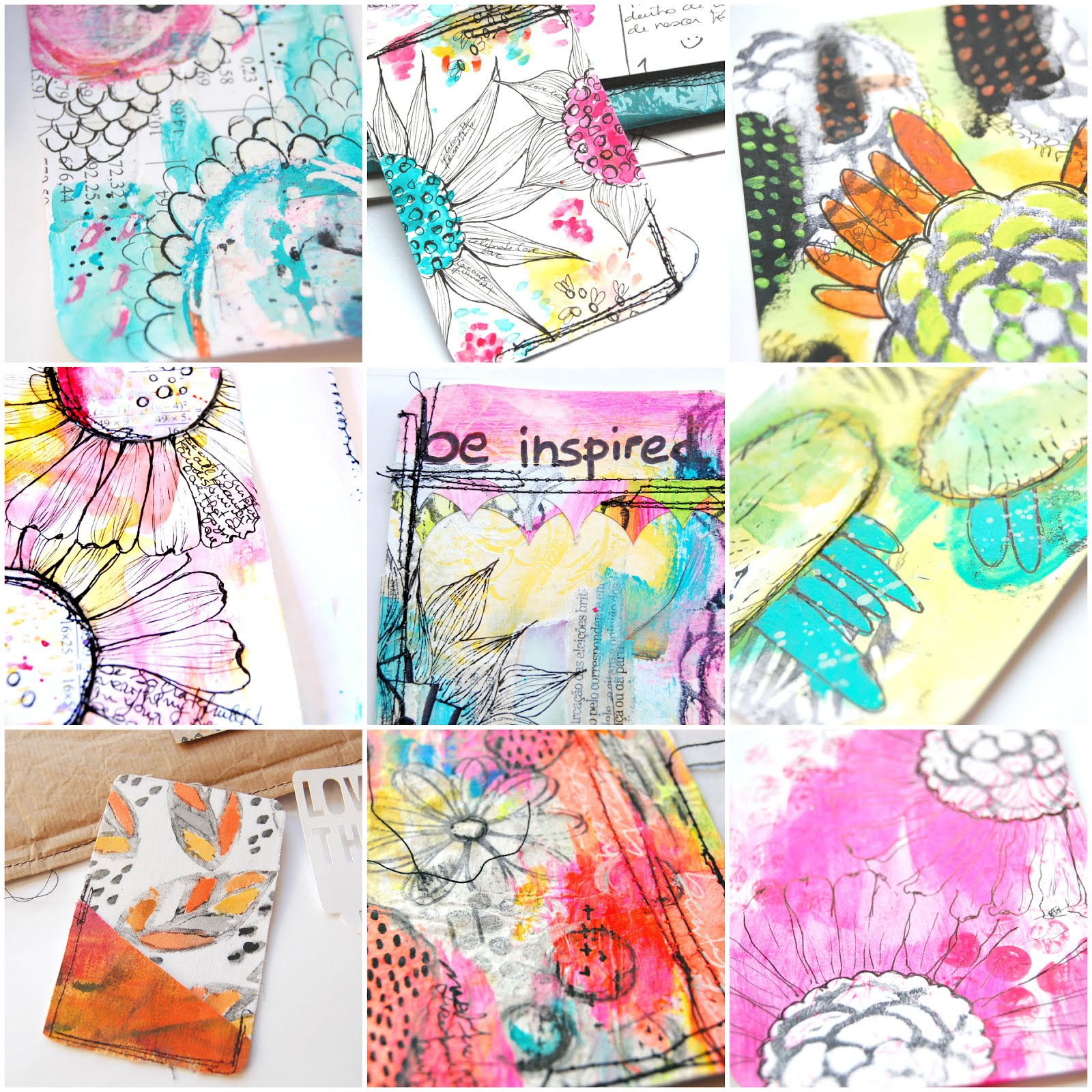 Pocket art cards - my process