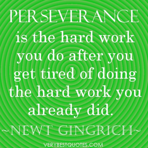 the significance of patience and perseverance in dealing with everyday life Perseverance is one of the key qualities that you need to reach success really,  perseverance is a great tool to use, which doesn't require.