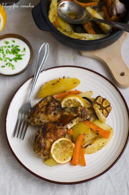 Kurczak pieczony z warzywami przepis