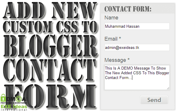 How To Add New Custom CSS To Blogger Contact Form Widget?