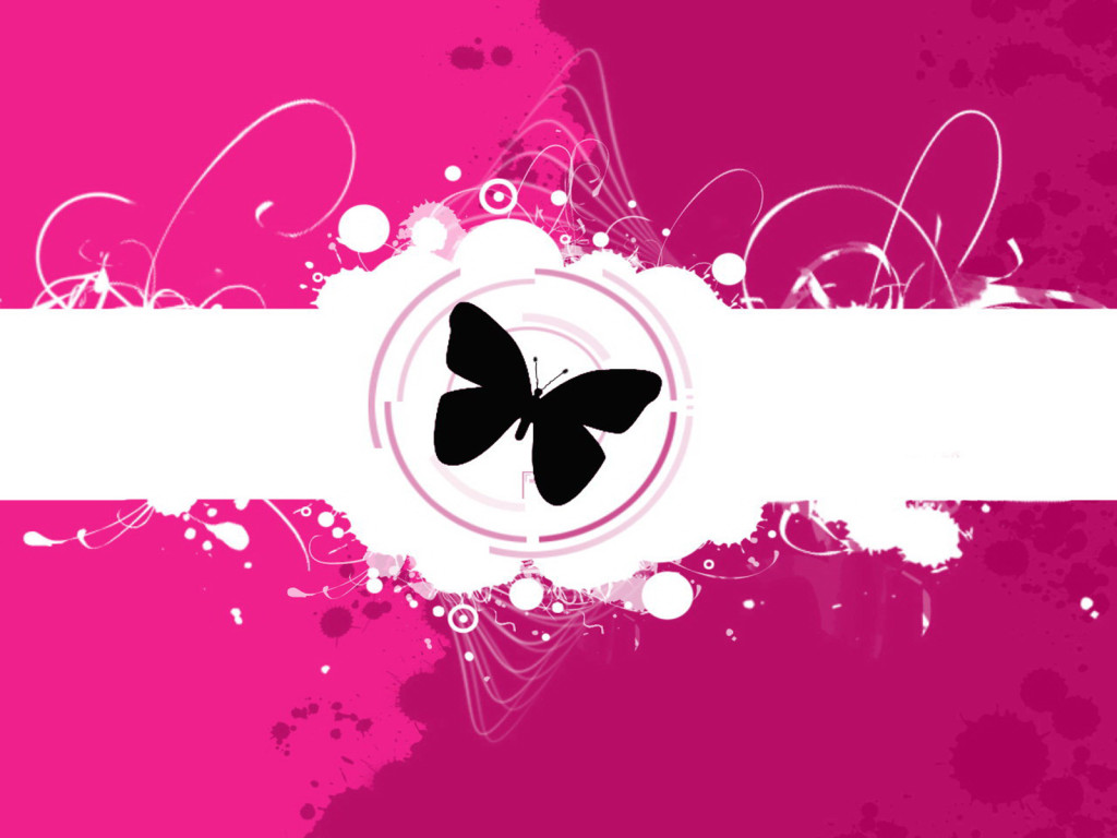 Free background wallpaper pink butterfly wallpapers for Pretty wallpaper for walls