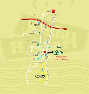 Peta dan Brosur Kedai H. Asari